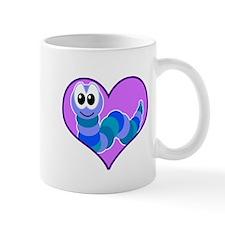 Cute Goofkins Caterpillar in Heart Mug