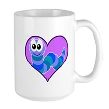 Cute Goofkins Caterpillar in Heart Mug