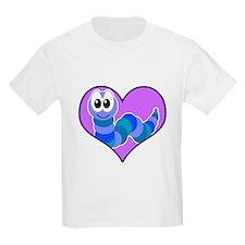 Cute Goofkins Caterpillar in Heart T-Shirt