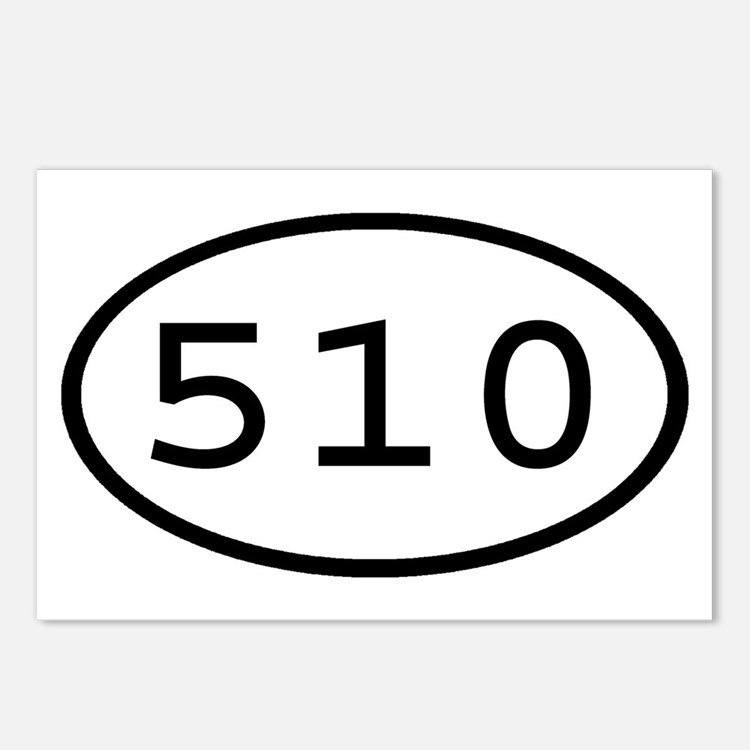 510 Oval Postcards (Package of 8)