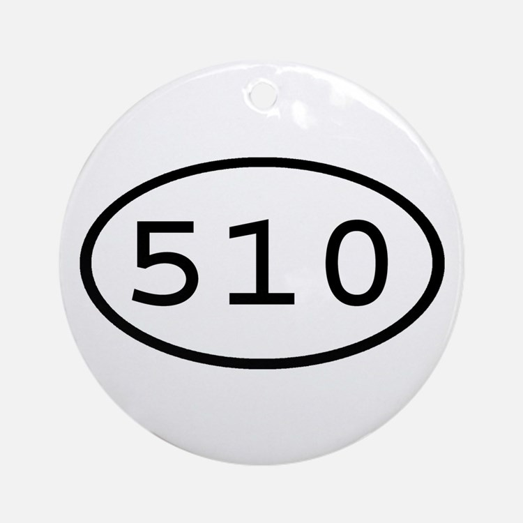 510 Oval Ornament (Round)