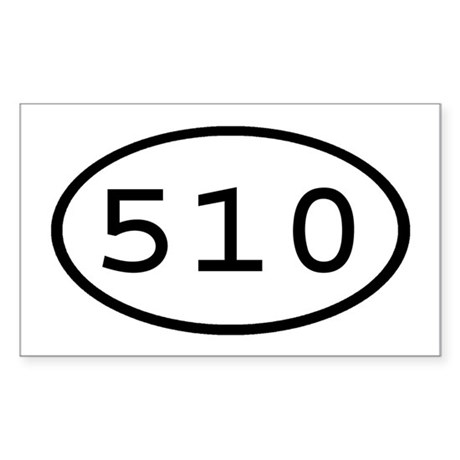 510 Oval Rectangle Sticker