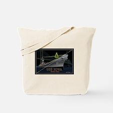 USS Iowa Christmas Tote Bag