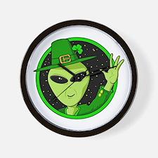 Saint Patrick's Day Alien Wall Clock