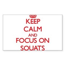 Keep Calm and focus on Squats Decal