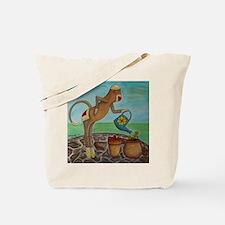 Garden Sock Monkey Tote Bag