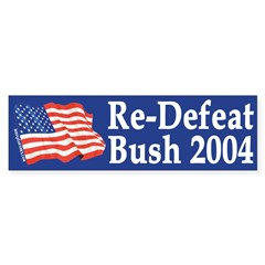 Re-Defeat Bush 2004 (bumper sticker)