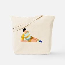 Injured Soccer Player Tote Bag