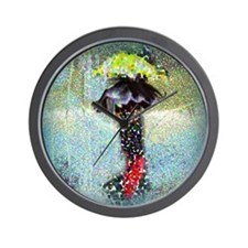 Two Umbrellas Wall Clock