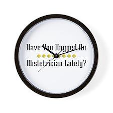 Hugged Obstetrician Wall Clock