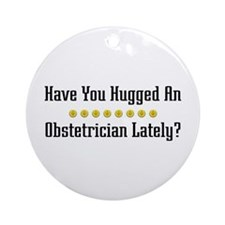 Hugged Obstetrician Ornament (Round)