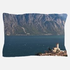 Italy, Verona Province, Malcesine. Aer Pillow Case