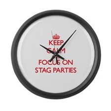 Unique Stag party Large Wall Clock