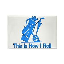 Golfing Dad Rectangle Magnet