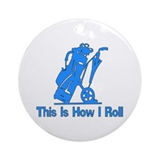 Golfing Dad Ornament (Round)