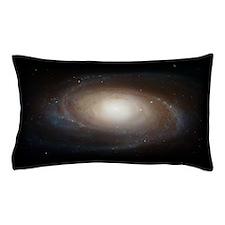 Blue Spiral Galaxy Pillow Case