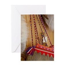 Traditional items made from raindeer Greeting Card