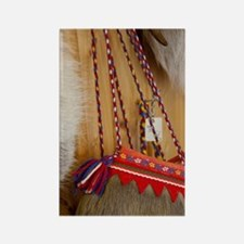 Traditional items made from raind Rectangle Magnet