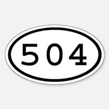 504 Oval Oval Decal