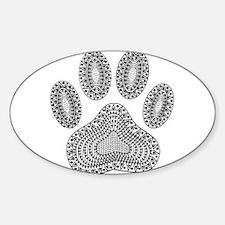 Tribal Dog Paw Print Decal