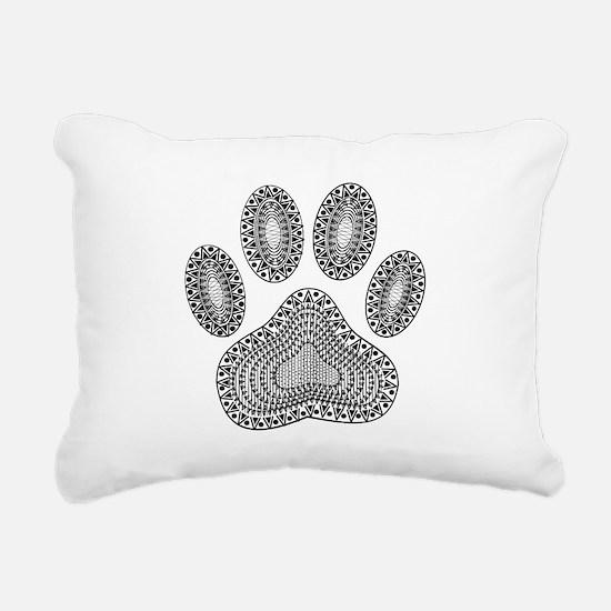 Cute Dog paw Rectangular Canvas Pillow