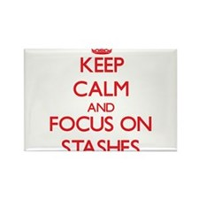 Keep Calm and focus on Stashes Magnets