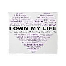 I Own My Life_Purple Heart Throw Blanket