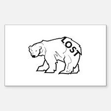 LOST Polar Bear Rectangle Decal