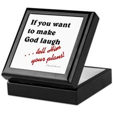 Make God Laugh Keepsake Box