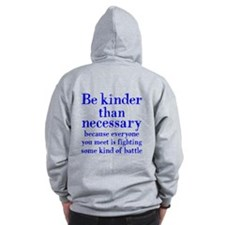 BE KINDER (2-sided) Zip Hoody