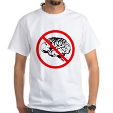 No Brain White T-shirt