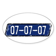 070707 1 Oval Decal
