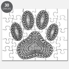 Cool Zebra print black white theinkbox Puzzle