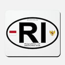 Indonesia Intl Oval Mousepad