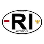 Indonesia Intl Oval Oval Sticker