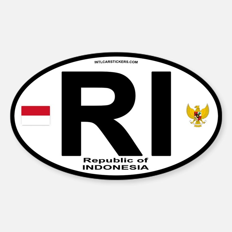 Indonesia Intl Oval Oval Decal