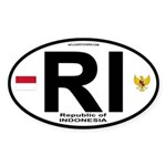 Indonesia Intl Oval Oval Sticker
