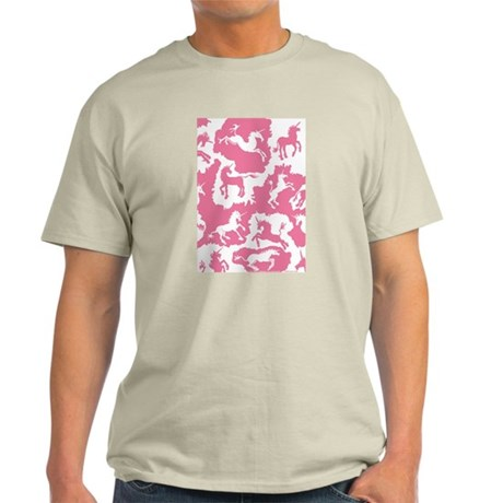 Rose Pink Unicorn Patches Light T-Shirt