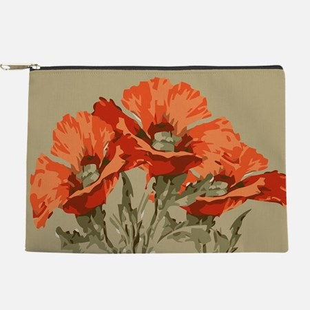 Red Poppies Makeup Bag
