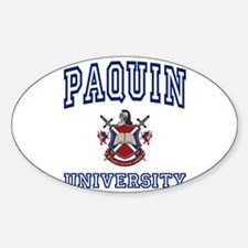 PAQUIN University Oval Decal