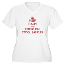 Keep Calm and focus on Stool Samples Plus Size T-S