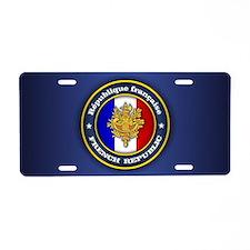 French Emblem Aluminum License Plate