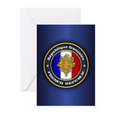 French Emblem Greeting Cards