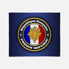 French Emblem Throw Blanket