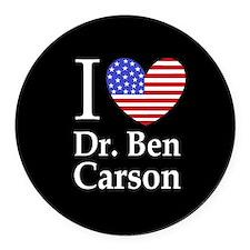 Cute Ben carson Round Car Magnet