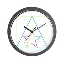Funny Pink triangle Wall Clock
