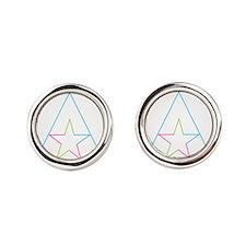 Unique Pink triangle Round Cufflinks