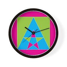 Unique Pink triangle Wall Clock