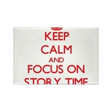 Keep Calm and focus on Story Time Magnets