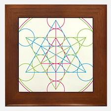 Cute Sacred geometry Framed Tile